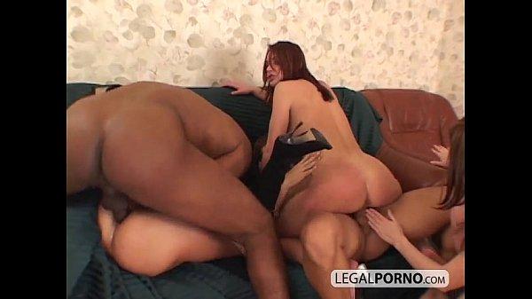 Three hot babes and two big cocks fucking hard TS-3-02
